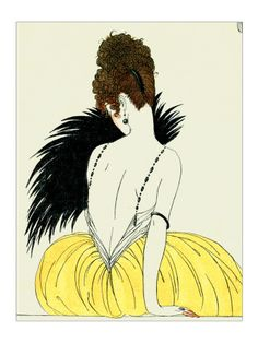 Georges Barbier, Woman with Fan, giclee print