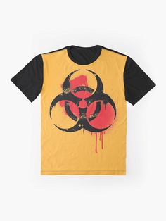 'Biohazard Symbol' Graphic T-Shirt by EddieBalevo Laptop Cases, Phone Cases, Throw Blankets, Throw Pillows, Graffiti Styles, Wall Tapestries, Shower Curtains, Floor Pillows, Tote Bags