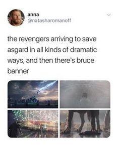 It was like when a bird hits the window<<< big mood Bruce Marvel Universe, Marvel Funny, Marvel Memes, Marvel Dc Comics, Marvel Avengers, Bruce Banner, Loki Thor, Marvel Characters, Deadpool