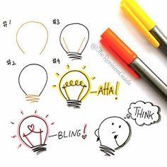 lightbulb doodles