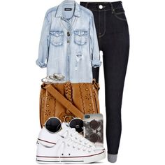 A fashion look from May 2014 featuring Monday tops, River Island jeans and Converse sneakers. Browse and shop related looks.