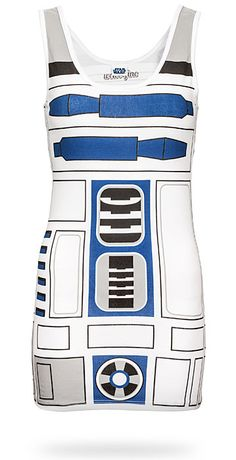 R2D2 Dress - nerdy Halloween 2013...going to try to make this!