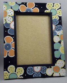 Painting Frames, Painting On Wood, Crafts To Make, Diy Crafts, Painted Picture Frames, Art N Craft, Mandala Painting, Frame Crafts, Frame It
