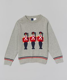 Look at this Gray Nutcracker Sweater - Infant, Toddler