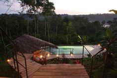 Hamadryade Lodge : le bonheur en Equateur  Découvrez Hamadryade Lodge, un éco-lodge situé en pleine jungle amazonienne ! A la fois luxueux et naturel, le boutique-hôtel est dirigé par un couple de Français amoureux de l'Equateur, de ses paysages et de sa population...