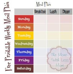 Free Weekly Meal Plan Printable Template with Breakfast, Lunch & Dinner Planning Menu, Monthly Meal Planning, Meal Planning Printable, Weekly Meal Plan Template, Monthly Menu, Weekly Menu, Breakfast Lunch Dinner, Proper Nutrition, Spring Recipes