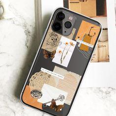 Golden Scraps Collage Clear Phone Case