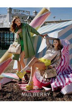 Frida Gustavsson and Lindsey Wixson For Mulberry by Tim Walker