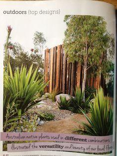 58 ideas for timber garden screen spaces Australian Native Garden, Australian Plants, Garden Privacy, Privacy Screen Outdoor, Plant Design, Garden Design, Bush Garden, Mid Century Exterior, Screen Plants