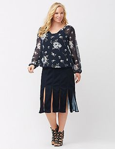 The car wash skirt is a total style do! This ultra-hip twist on the fringe trend keeps the style high however you wear it in rich, saturated denim with vertical seaming to streamline the look. Exposed back zipped closure. lanebryant.com