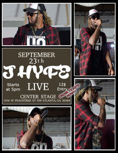 J Hyfe Perform on Saturday, September 23rd, at Center Stage, Show starts at 5 P.M., Click on Ticket Link in or Contact Us for Hard Ticket!!! Tickets are Now on Sale for $12  https://growthescene.eventbee.com/event?eid=167353673
