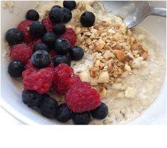 """Bored of bacon and eggs? Want something not too """"savoury"""" but still want the nutrition in your breakfasts? Or are you craving oats or porridge? Try this Cauliflower Rice """"Porridge""""!"""