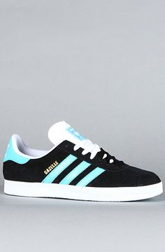 uk availability 02c26 d73d1 The Gazelle 2 Suede Sneaker in Black, Super Cyan, amp White by adidas