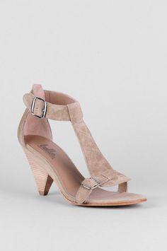 YUM. Belle by Sigerson Morrison — Suede Cutout Buckle Sandals $179