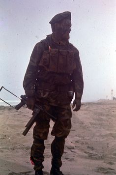 SEAL Team One member with a Smith & Wesson M76 in Vietnam, 1970