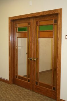 Custom Interior French Doors beautiful curved trim detail