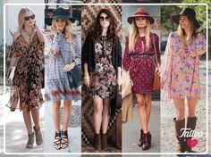 #TattooTrends: los vestidos boho con estampados coloridos son la mejor prenda para hacer la transición de verano a otoño   #BRAVEnewWORLD