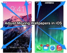 How to adjust moving wallpapers in iOS
