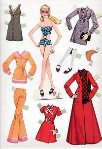 Vintage Whitman Mattel Barbie New 'N' Groovy PJ Paper Dolls 1970 Cut Mod | eBay