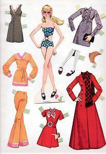 Vintage Whitman Mattel Barbie New 'N' Groovy PJ Paper Dolls 1970 Cut Mod | eBay
