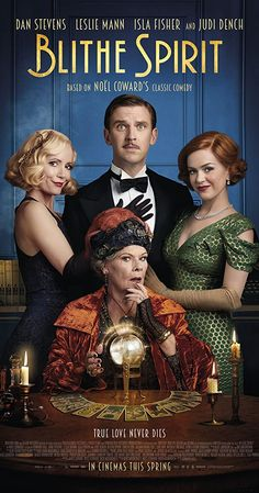 Watch Dan Stevens, Leslie Mann, Isla Fisher and Judi Dench in the trailer for Blithe Spirit Movie To Watch List, Tv Series To Watch, Good Movies To Watch, Great Movies, Movies Free, Movie List, Dan Stevens, Films Hd, Films Cinema