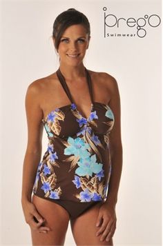 06ccb32614085 Prego Halter Maternity Tankini Bathing Suit in Costa Rics Print You will  love this stylish Costa