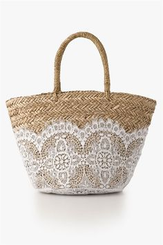 Now that's a classy beach bag. Everything But Water Striped Sequin ...