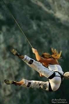 Maya Vidmar rock climbing in Slovenia by Anna Piunova Climbing Girl, Sport Climbing, Ice Climbing, Mountain Biking, Mountain Climbing, Base Jump, Sup Yoga, Sport Fitness, Action Poses