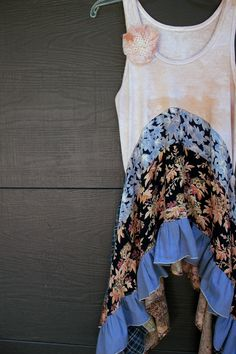 REVIVAL Women's Upcycled Boho Shirt Shabby Chic by REVIVAL on Etsy
