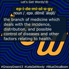 epidemiology 12/20/2020 GFX Definition of the Day ep·i·de·mi·ol·o·gy noun /ˌepəˌdēmēˈäləjē/ #branch of #medicine dealing w/ the #incidence #distribution and possible #control of #diseases #dailyGFXdef Beaufort Scale, American Carnage, Christian Christmas, Albedo, Definitions, Ol, The Voice, Medicine, Let It Be
