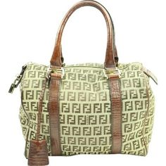 """""""Brown Boston Zucca Satchel   BG-#7924198"""" Bag displays signs of exterior scuffs or marks. Interior lining of bag displays signs of wear. There are scuffs or scratches on hardware of bag. Bag displays signs of leather aging. View photos for more details. FENDI Bags Satchels"""