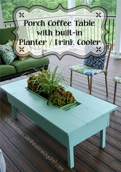 Outdoor Coffee Table With Center Planter Box by KeystoneDesign