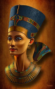Nefertiti Egyptian Queen On Papyrus Art Print by Jovemini ART. All prints are professionally printed, packaged, and shipped within 3 - 4 business days. Choose from multiple sizes and hundreds of frame and mat options.Love ovv f Art. Egyptian Queen Nefertiti, Egyptian Goddess, Egyptian Mythology, Egyptian Symbols, Egyptian Art, Egyptian Fashion, Ancient Egyptian Jewelry, Egyptian Women, Ancient Egypt Art