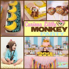monkey girl Birthday Party Ideas | Photo 1 of 51 | Catch My Party