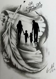 Tattoo Design Drawings, Art Drawings Sketches Simple, Tattoo Sleeve Designs, Tattoo Sketches, Pencil Art Drawings, Father Tattoos, Dad Tattoos, Family Tattoos, Body Art Tattoos