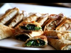 Armenian Easter Dish - Green Stuffed Bread Lavash Recipe- Heghineh Cooking Show - http://www.bestrecipetube.com/armenian-easter-dish-green-stuffed-bread-lavash-recipe-heghineh-cooking-show/