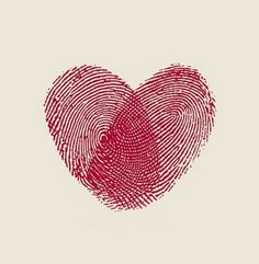 Great Valentine Craft!  Make one of these thumbprint hearts, one for each of your children then frame it!