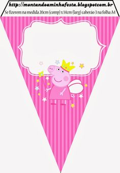 Peppa Pig Fairy Party Banners and Printables.  cones, cupcake wrappers, invitations, cards, banners, napkin holders, food labels, and more.
