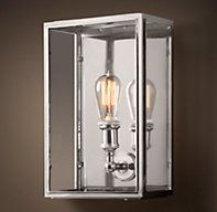 Union Filament Clear Glass Wide Sconce - Polished Nickel