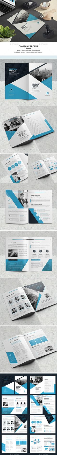 Company Profile Template InDesign INDD Company Profile Design - it company profile template