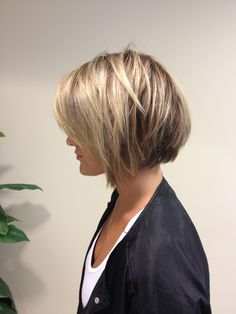 Lowlights and short bob done by Allison Wilson statesboro,ga