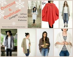 Oversized & Comfortable Cardigans Pattern Collection - Cre8tion Crochet