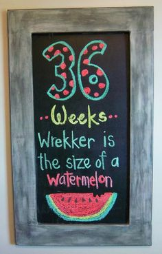 Pregnancy Chalkboard: Week 36