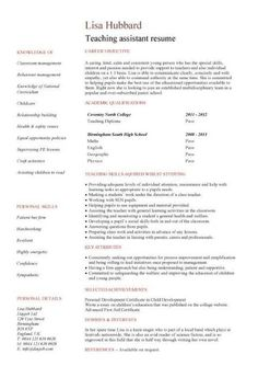 Teacher Assistant Resume Job Description   Teacher Assistant Resume Job  Description We Provide As Reference To