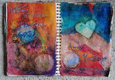 Art journal page by Lindsay Drya Vanhove