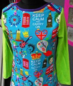 Kleid bunt London Gr. 152.  In Handarbeit hergestellte Ware von Ra-Mi-Fashion-Dreams. Jedes Teil ein Einzelstück. Stöbern Sie gerne in meinem Online-Shop und kaufen schöne Handmade Ware. Damenmode, Einzelstück, Handmade