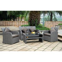 @Overstock - Spice up your patio furnishings with the this Settee Group. This outdoor set features a sturdy powdercoated Aluminum/Textweave build and three striking color options.http://www.overstock.com/Home-Garden/Aruba-Aluminum-Textweave-4-piece-Settee-Set/7213481/product.html?CID=214117 $899.00