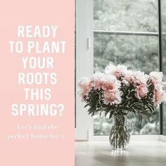 Spring is one of the most popular times to buy or sell a home AND FOR GOOD REASON. If you're ready to plant your roots this spring in your new home- let's talk! Real Estate Slogans, Real Estate Career, Real Estate Quotes, Real Estate Humor, Real Estate Business, Real Estate Tips, Selling Real Estate, Real Estate Marketing, Spring Aesthetic