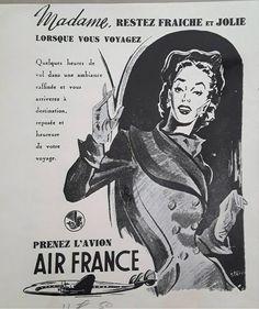 Air France, Vintage Travel, Vintage Airline, Destinations, Memes, Movie Posters, Meme, Film Poster, Travel Destinations