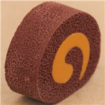 cute Japanese eraser with brown chocolate cake design